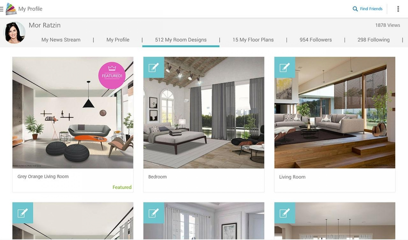 'Homestyler Interior Design' app for Android or Apple