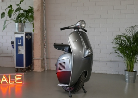 Vintage Vespa Parts Get Turned into Modern Office Furniture